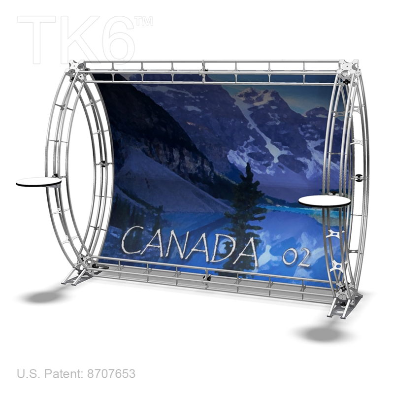 Canada 2 9ft X 7ft Truss Backwall Display Frame Only