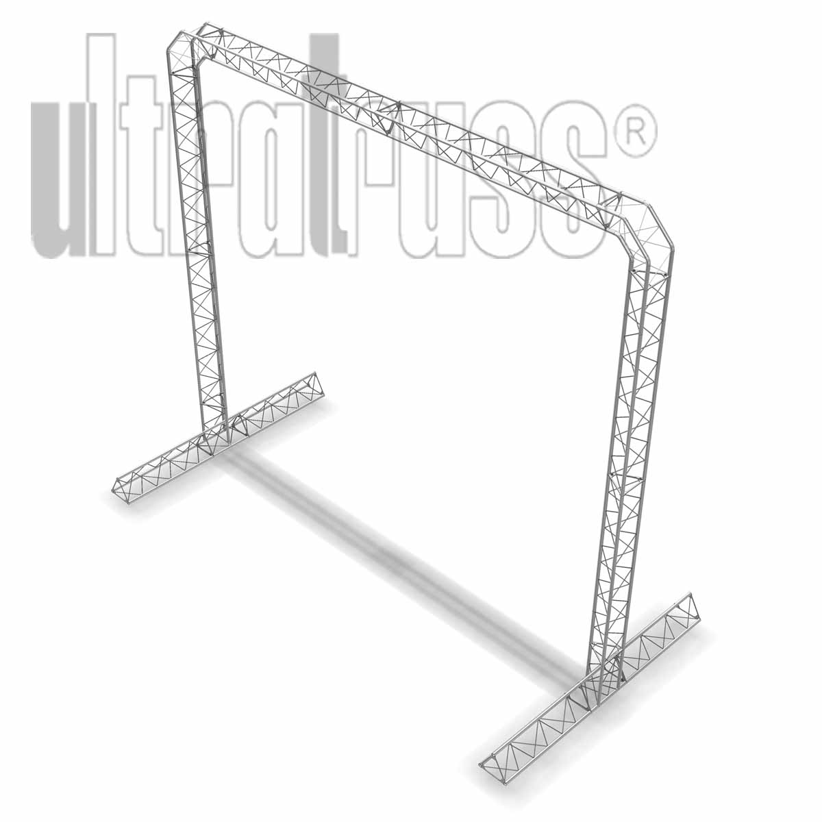 Oaks - 15ft by 13 by 8 ft deep Aluminum Ultratruss Triangle Truss Arch