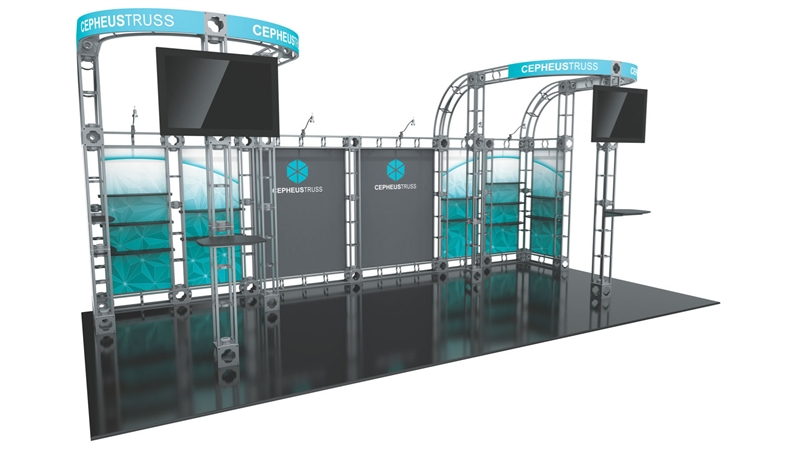Trade Show Booth Options : Cepheus orbital display booth best possible